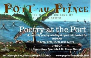 Poetry at the Port with Indran - FALL 2019