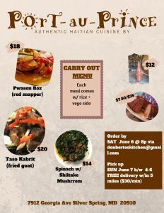 Carry out Menu - June 7, 2020