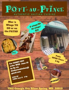 Thur June 11 - Carry out and Patio menu