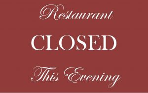 We will be closed Wed July 22. See again on Thursday July 23!