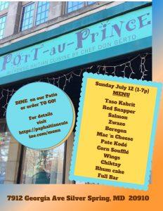 Sunday July 12 Menu