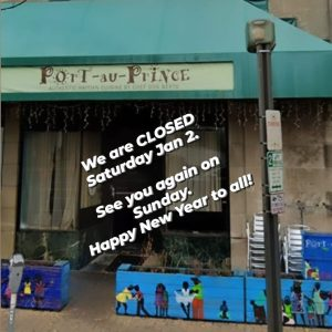 Closed January 2, 2021